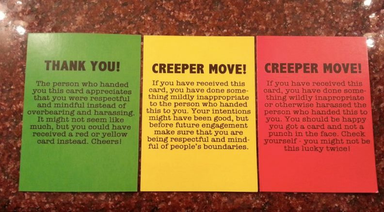 consent cards with detail